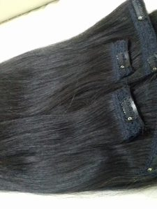 CLIP IN VIETNAM HUMAN HAIR 16 INCHES STRAIGHT