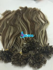 HUMAN HAIR V TIP MIXED COLOR 4 AND 60