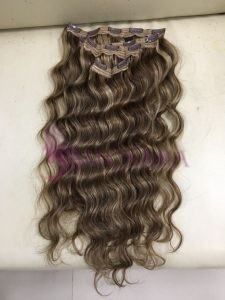 Body Wavy Clip in hair extensions 16 inches