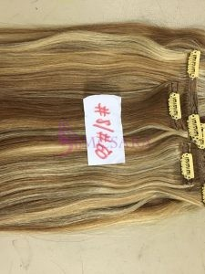 24 inches Straight Clip In Hair Extensions Mix color