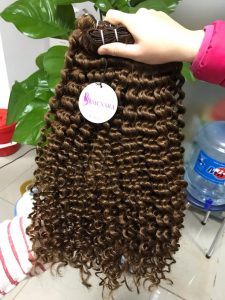 DOUBLE WEFT CURLY HAIR COLOR 5