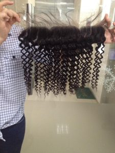 FRONTAL AND CLOSURE LOOSE CURLY HUMAN HAIR EXTENSION