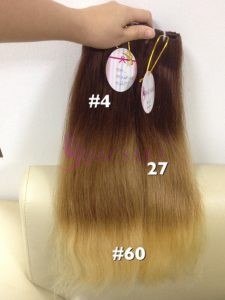 18 inches Weaves Straight Hair Extensions Ombre color