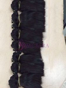 8 inches weaves hair extensions black color