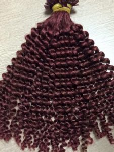 TIPS, LOOSE CURLY VIETNAM HUMAN HAIR EXTENSION  18 inches