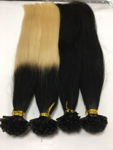U TIPS VIETNAM HAIR EXTENSIONS 20 INCHES COLOR 1B, OMBRE 1/60