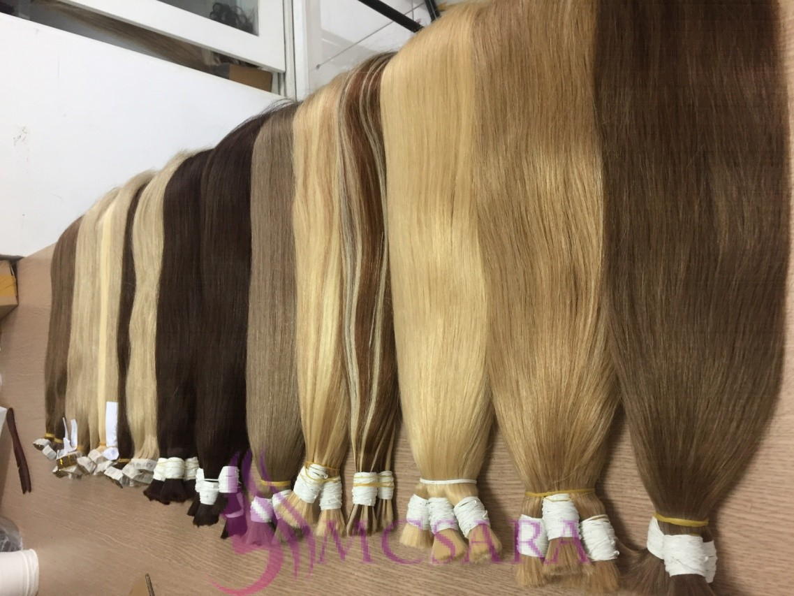 24 inch bulk straight hair various color