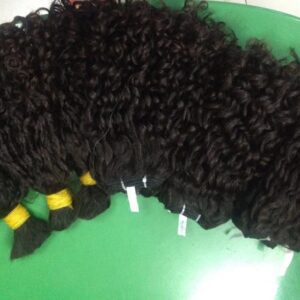Double Drawn Hair Bulk Old Curly Hair Color 1b 16