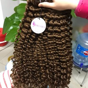 Double Weft Curly Hair Color 5 (2)