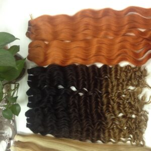 wavy hair color various